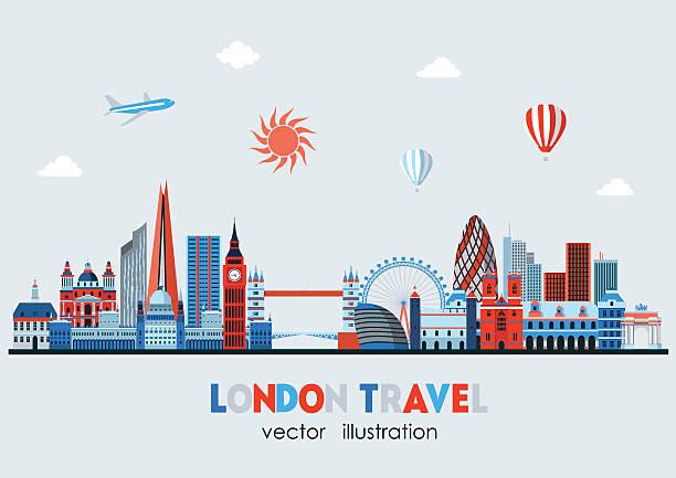 ilustrações de stock, clip art, desenhos animados e ícones de detalhada do linha do horizonte de londres. ilustração vetorial - londres