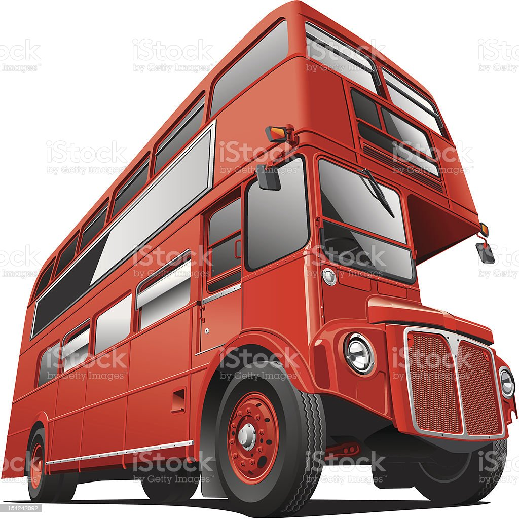 London Double Decker Bus vector art illustration