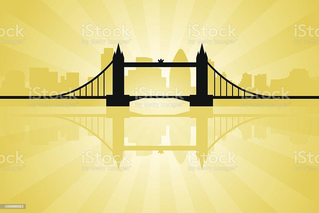 London England - Tower Bridge vector art illustration