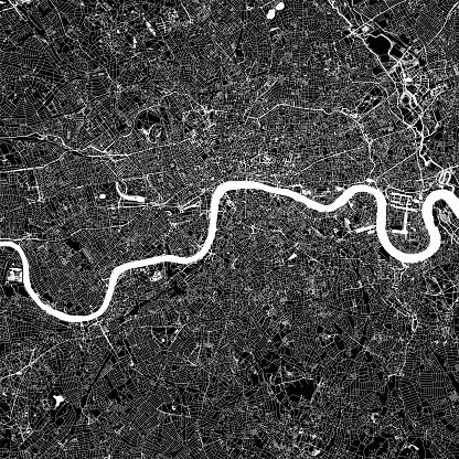 London, England Vector Map