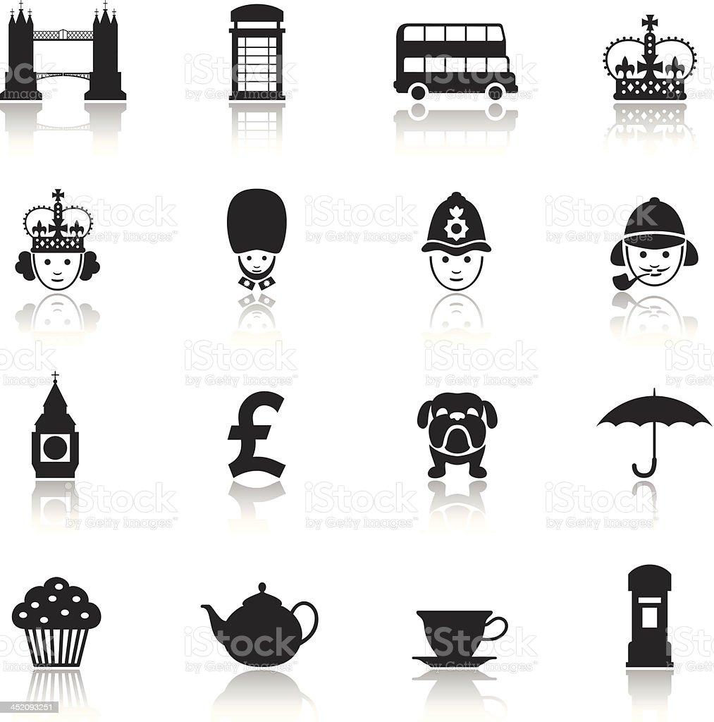 London Icon Set royalty-free stock vector art