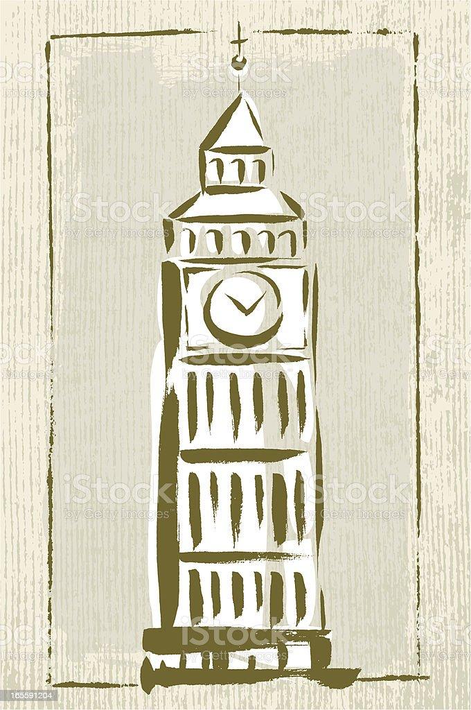 London Landmark royalty-free stock vector art