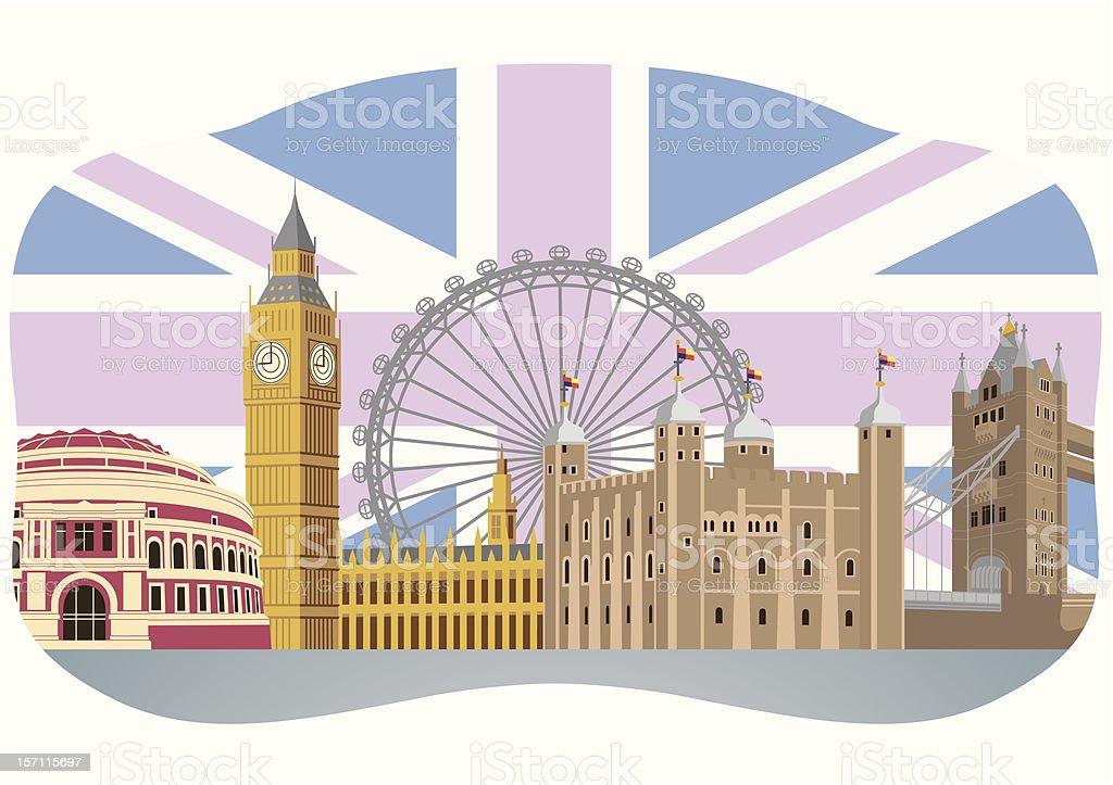 London landmarks vector illustration royalty-free stock vector art