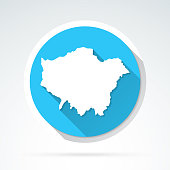 istock London map icon - Flat Design with Long Shadow 1322454957