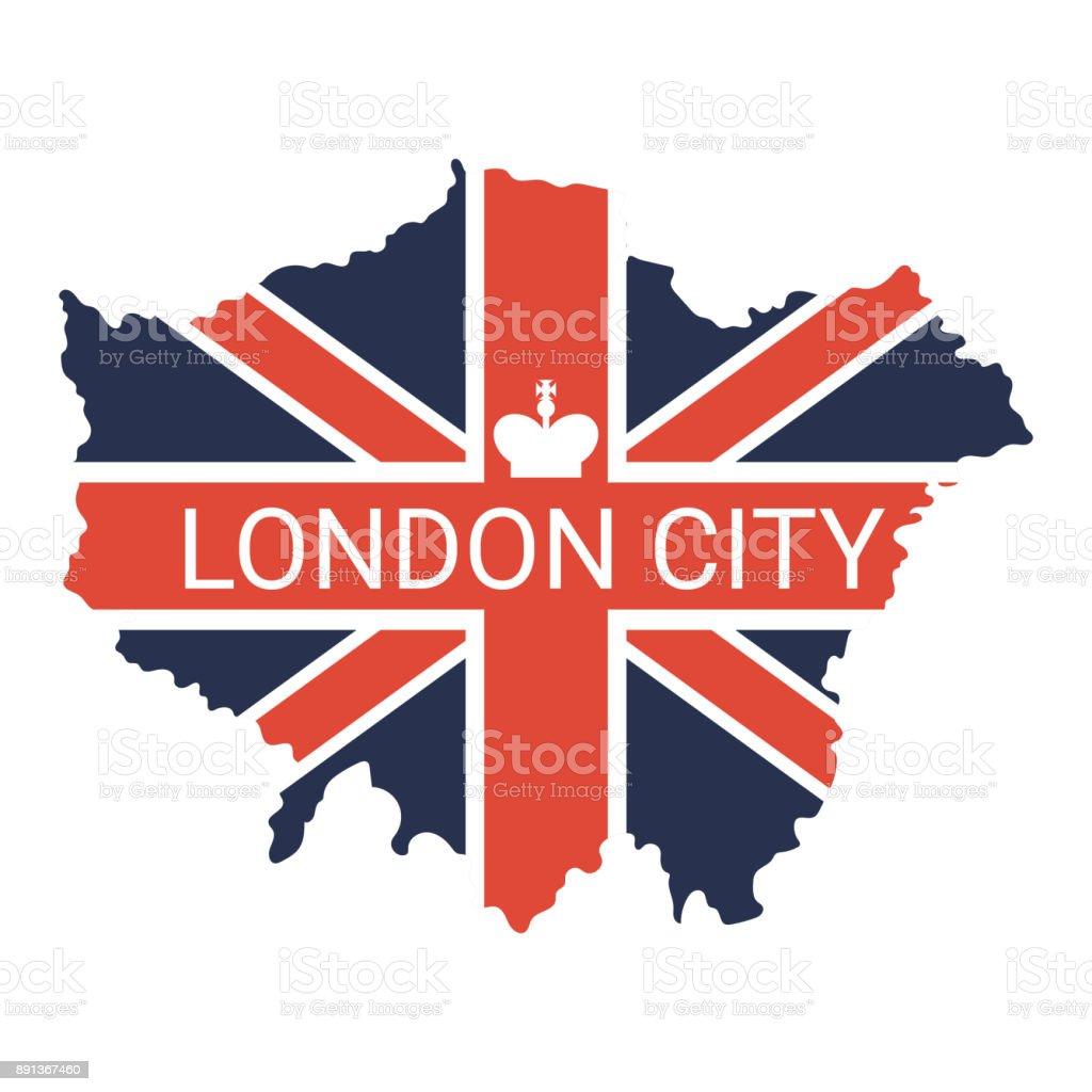 London map illustration vector art illustration