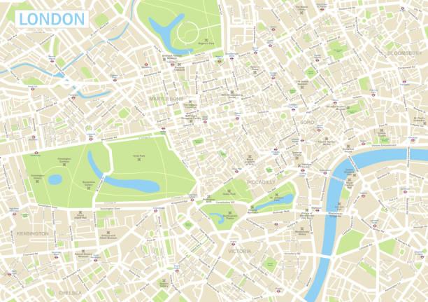 ilustrações de stock, clip art, desenhos animados e ícones de london map - londres