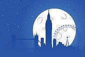 London Night Silhouette