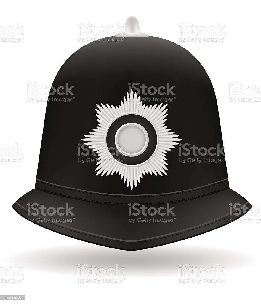 london police helmet vector illustration vector art illustration