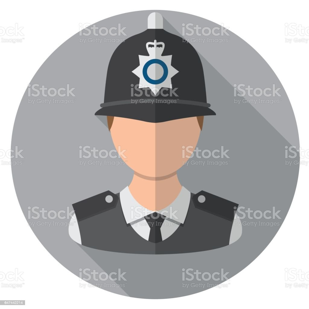Officier de Police de Londres - Illustration vectorielle