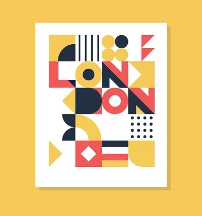 London pop art geometric poster