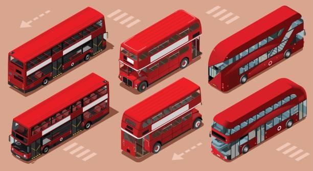 Doppeldeckerbus Stock-Vektoren und -Grafiken - iStock