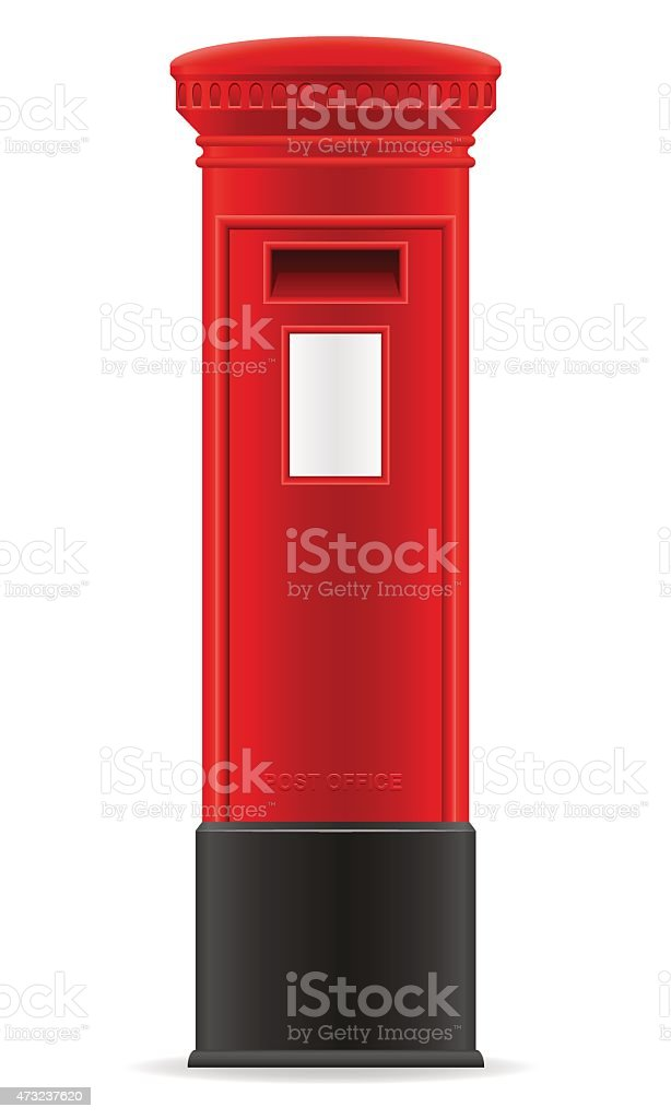 london red mail box vector illustration vector art illustration