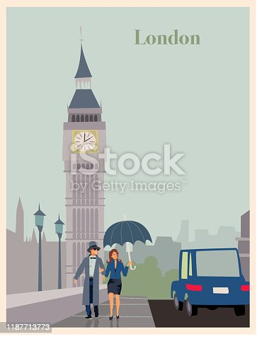 Poster of a tourist destination in naive style