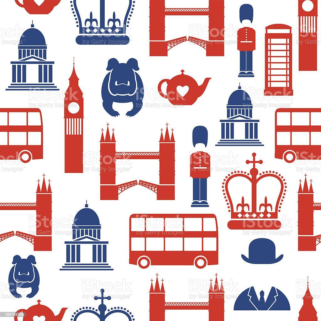 London Seamless Pattern vector art illustration