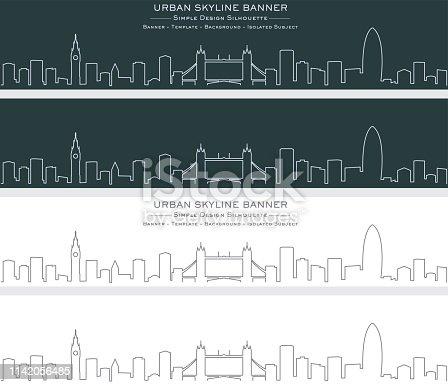 London Single Line Skyline Banner