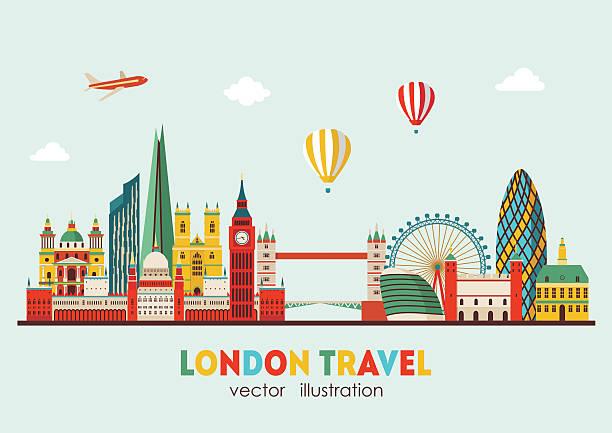 London Skyline abstrakte. Vektor-illustration – Vektorgrafik