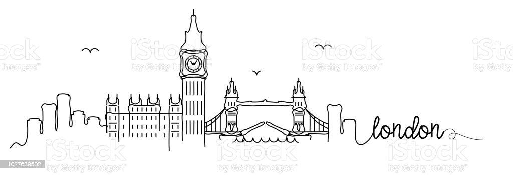 London Skyline Signature Design Stock Vektor Art und mehr ...