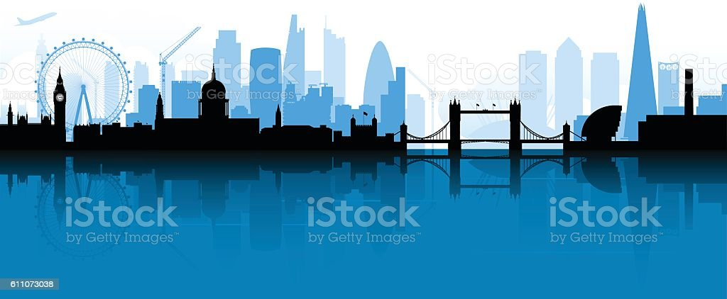 London Skyline Silhouette vector art illustration