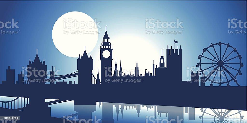 London Skyline vector art illustration