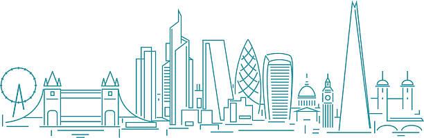 ilustrações de stock, clip art, desenhos animados e ícones de skyline de londres - londres