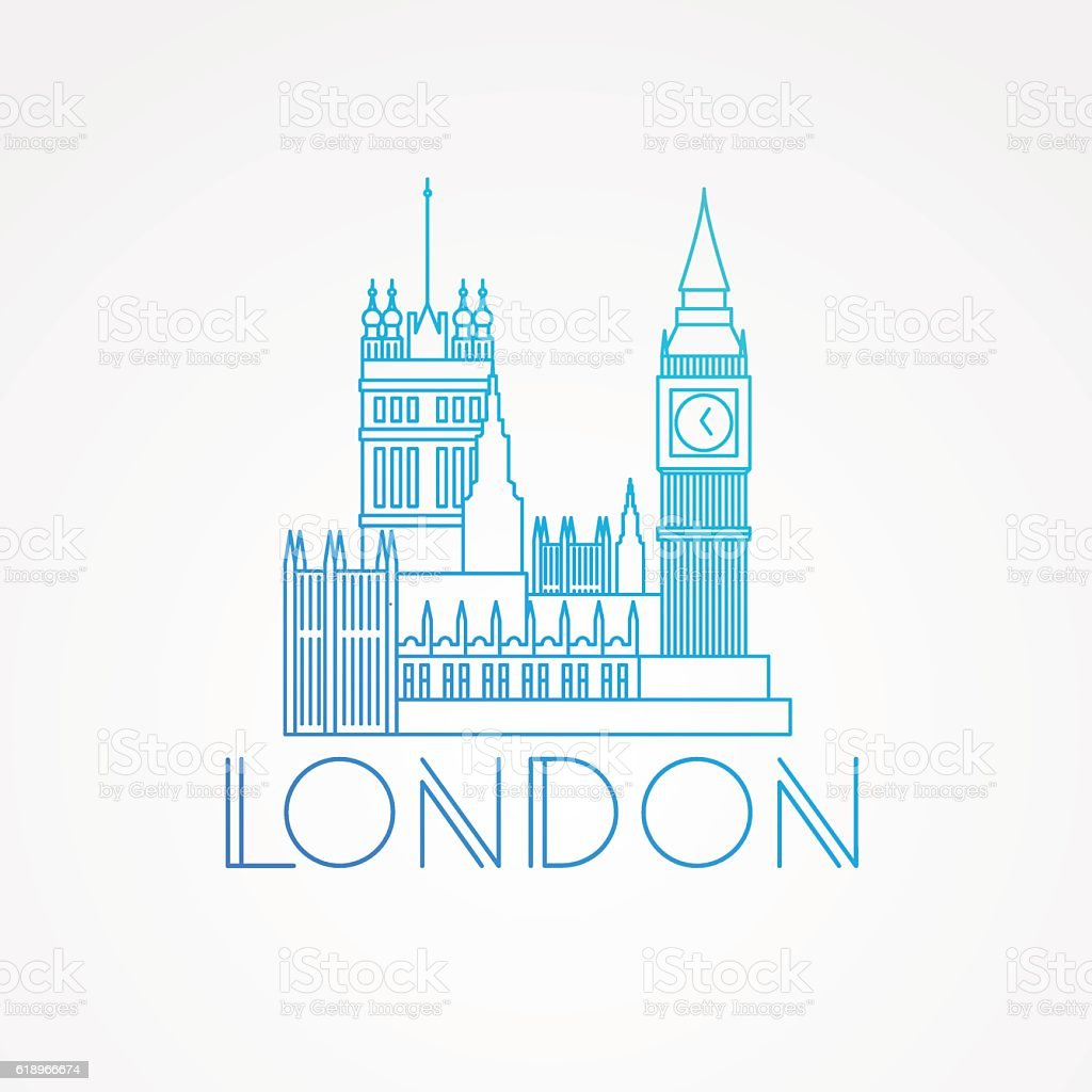 London Skyline. Vector illustration vector art illustration
