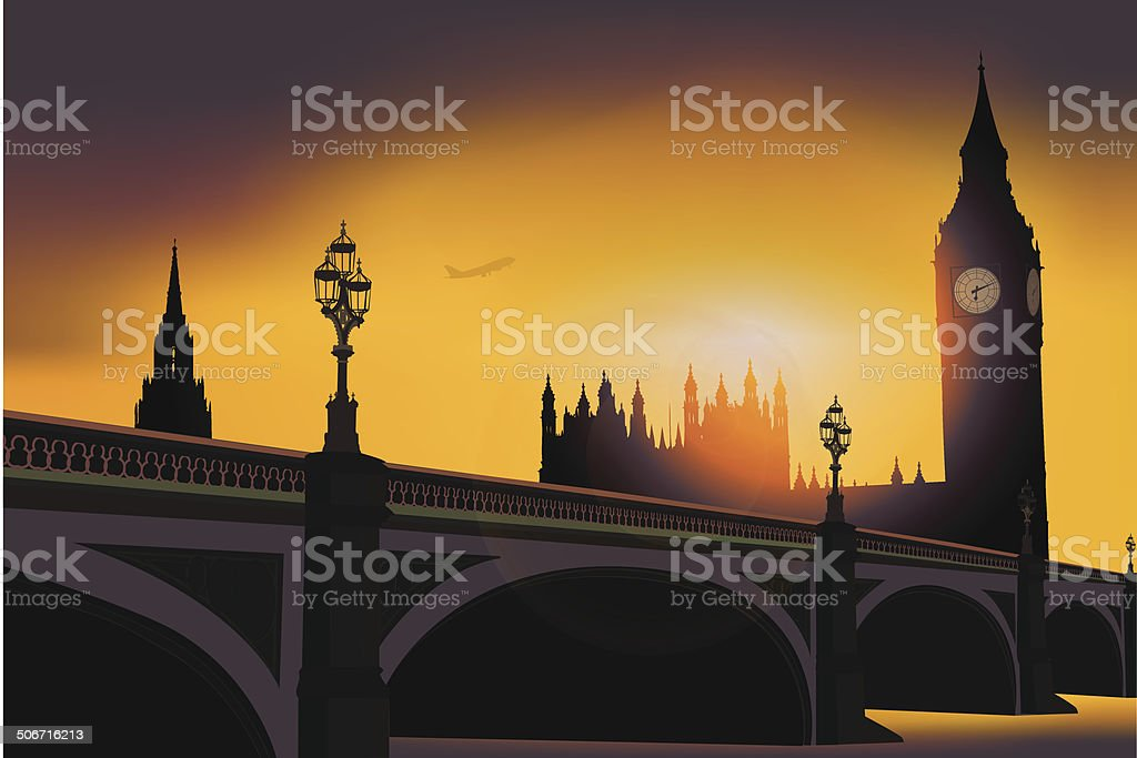 London Skyline -Vector royalty-free stock vector art