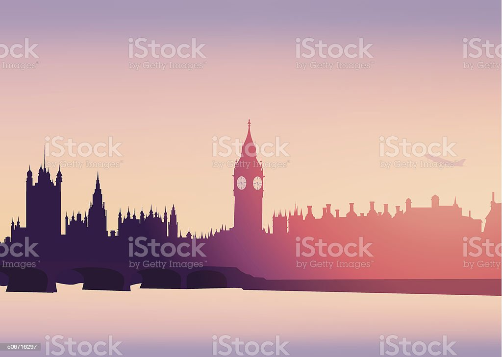 London Skyline -Vector vector art illustration