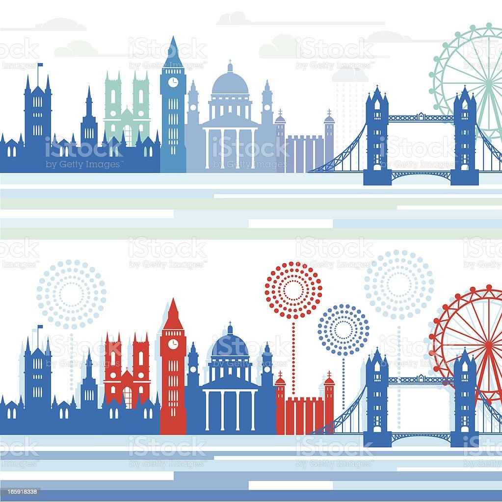 London Skylines royalty-free stock vector art