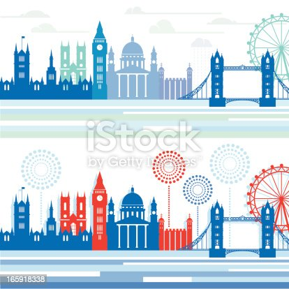 Stylized London cityscapes.
