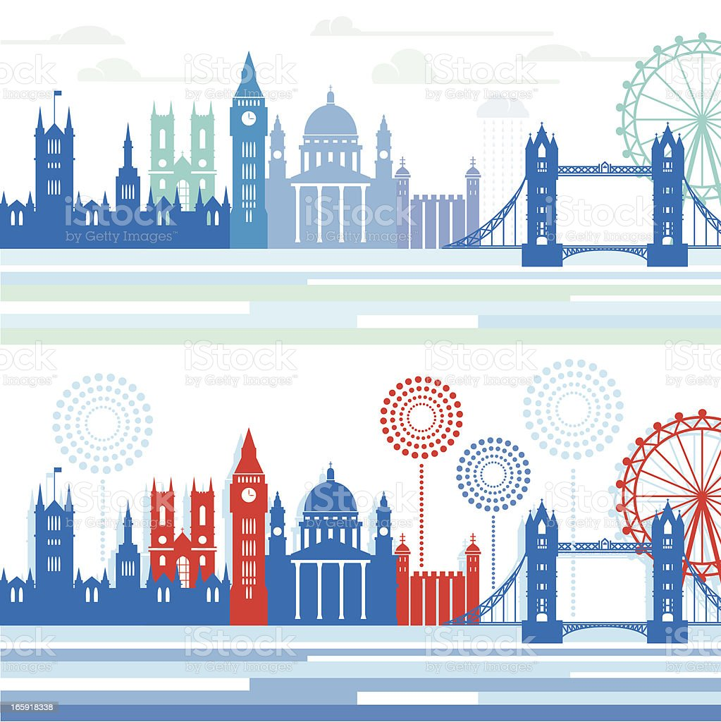 London Skylines vector art illustration