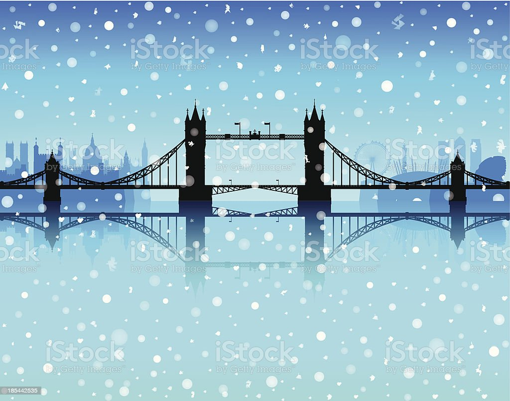 London Snow royalty-free stock vector art