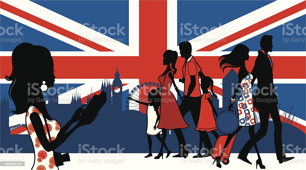 London Tourists royalty-free london tourists stock vector art & more images of adult