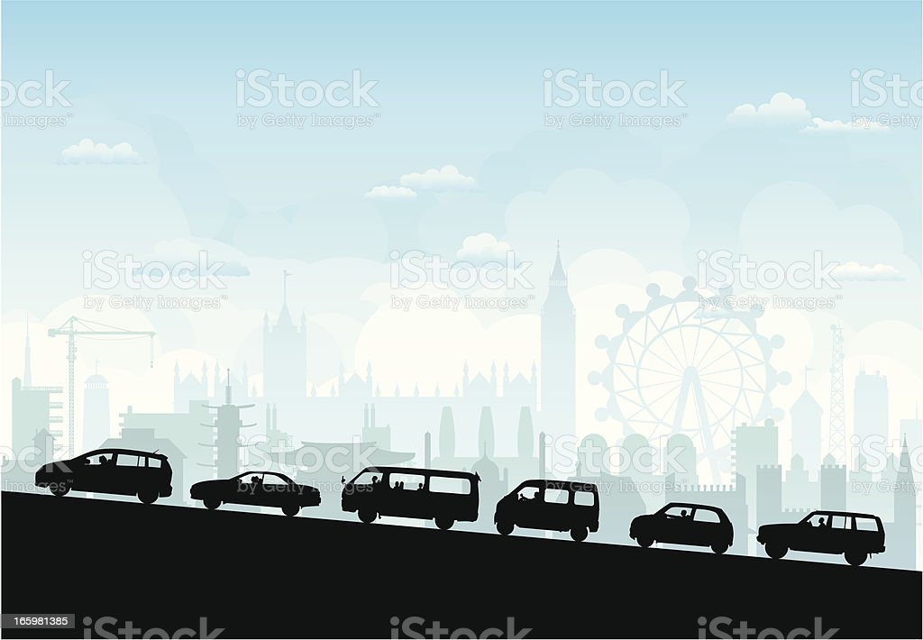London Traffic royalty-free stock vector art