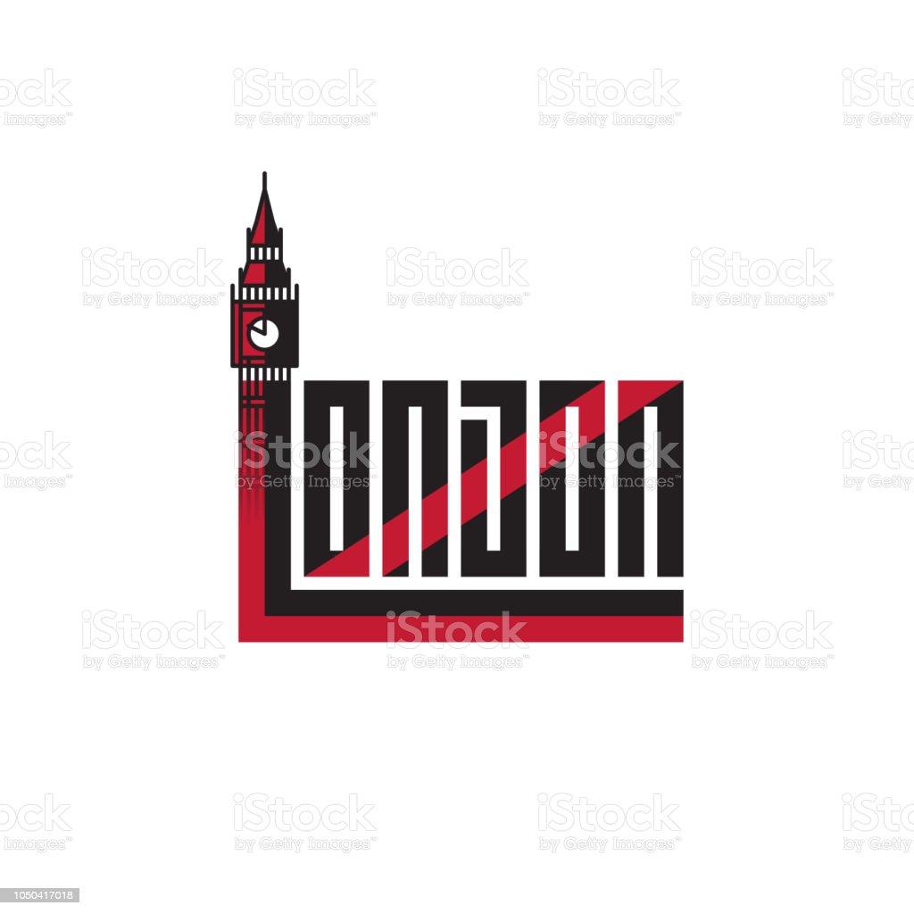 Ilustración de Londres Diseño De Camiseta O Imprimir Con Letras Y ...