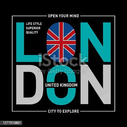 istock London typography design tee-shirt graphic-printed,design-t-printing-embroidery-apparel. 1277510601