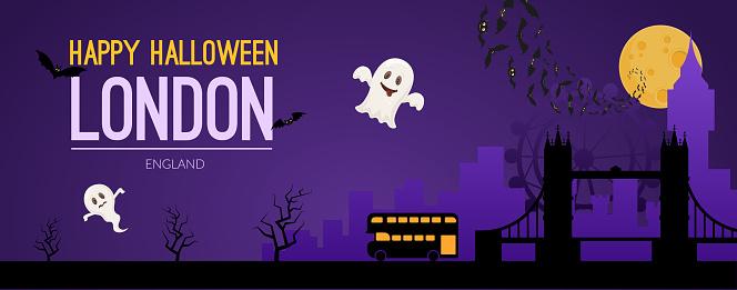 London, UK Halloween holiday background