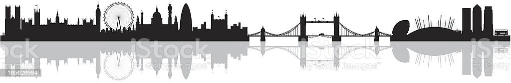 London (Buildings Are Detailed, Complete and Moveable) royalty-free stock vector art