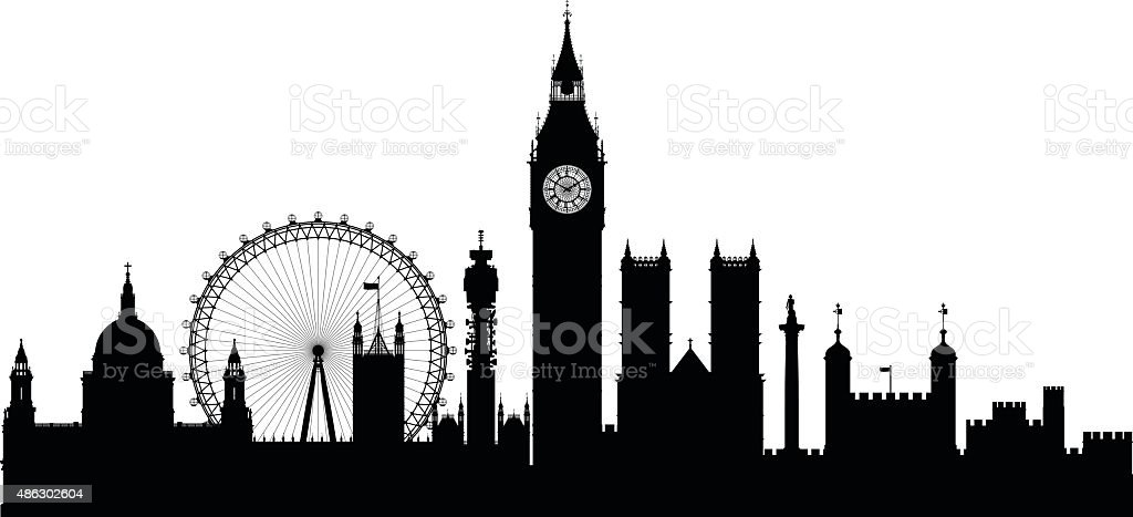 London (Buildings Are Detailed, Complete and Moveable) vector art illustration