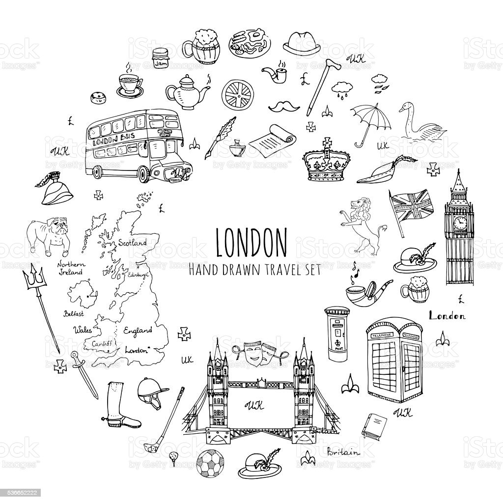 London vector art illustration