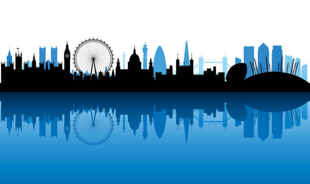 london (all buildings are complete and moveable) - london stock illustrations