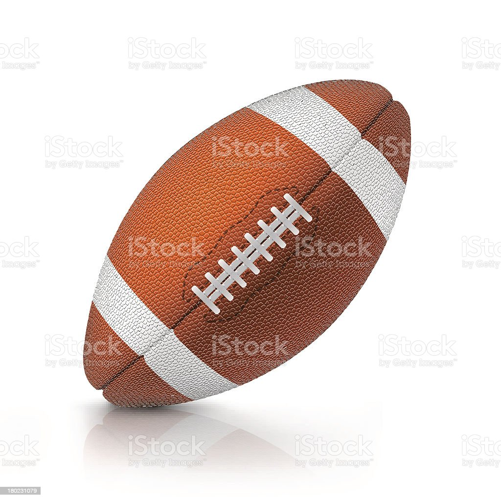 Lone rugby ball on white background royalty-free stock vector art