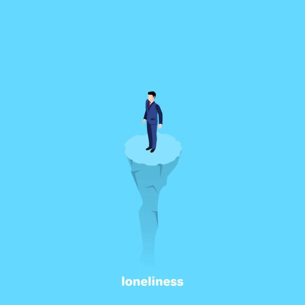 stockillustraties, clipart, cartoons en iconen met eenzaamheid 3 - solitair