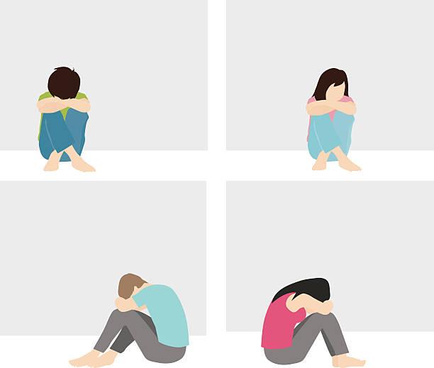 ilustrações de stock, clip art, desenhos animados e ícones de solitário e triste homem e mulher - unfortunate