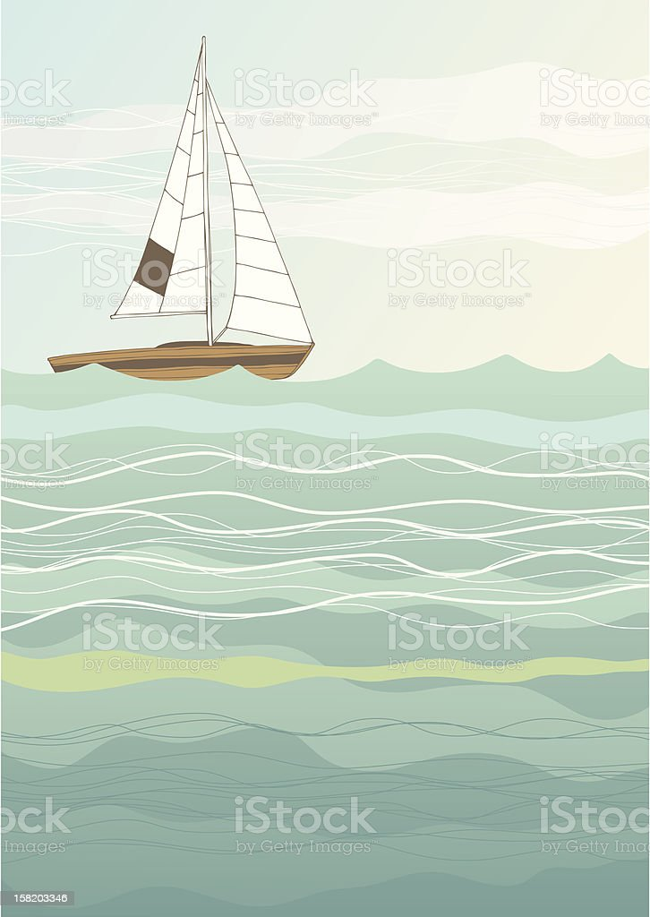 Lonely Boat royalty-free stock vector art