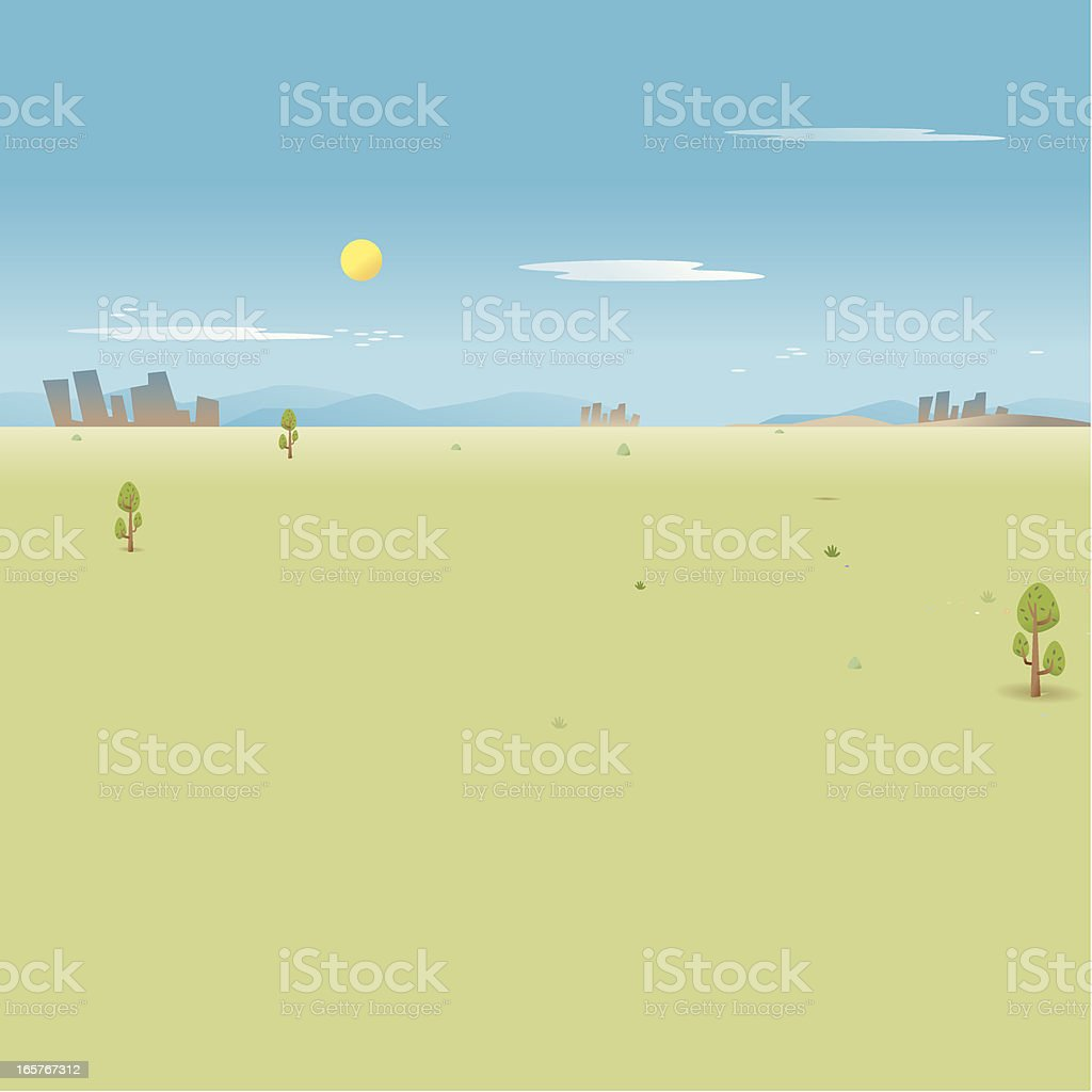 Lonely Landscape royalty-free stock vector art