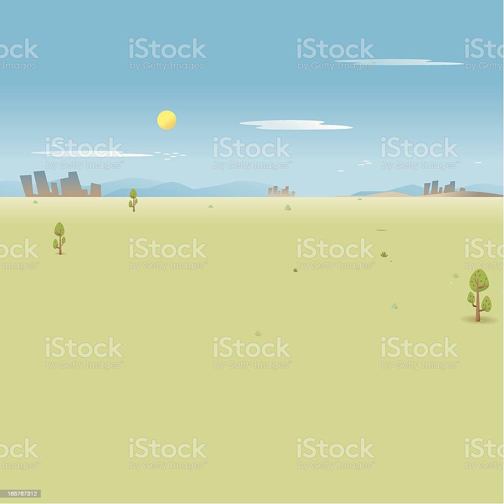 Lonely Landscape vector art illustration