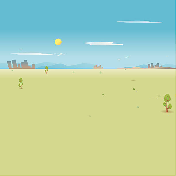 lonely landscape - russelltatedotcom stock illustrations