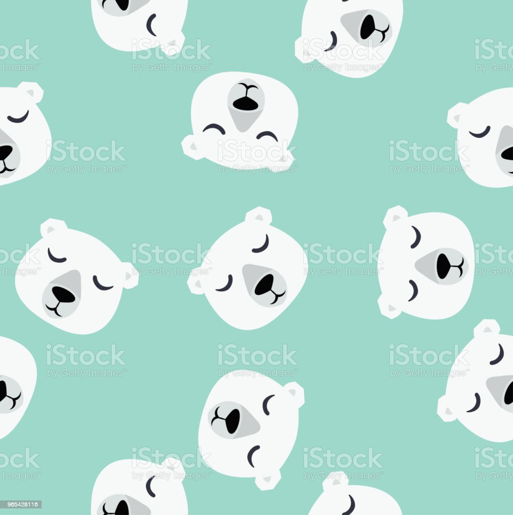 Lonely Polar bear sitting vector pattern royalty-free lonely polar bear sitting vector pattern stock vector art & more images of animal