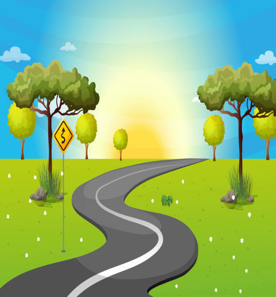 Winding Path Illustration Royalty Free Narrow Pa...