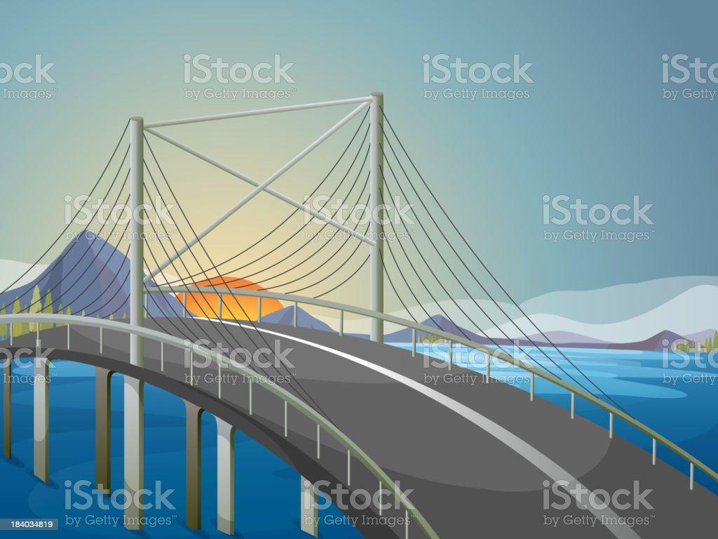long bridge royalty-free stock vector art